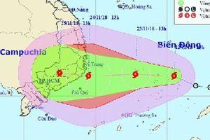 Áp thấp nhiệt đới mạnh lên thành cơn bão số 9 trên Biển Đông