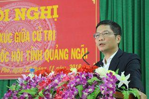 Bộ trưởng Trần Tuấn Anh tiếp xúc cử tri tỉnh Quảng Ngãi