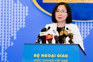Việt Nam kiên quyết phản đối hoạt động trái phép của Trung Quốc ở Hoàng Sa