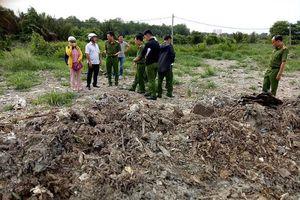 Đã lấy mẫu để kiểm tra vụ dùng rác thải san lấp mặt bằng