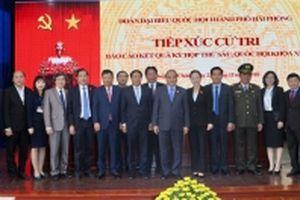 Thủ tướng Nguyễn Xuân Phúc tiếp xúc cử tri TP Hải Phòng