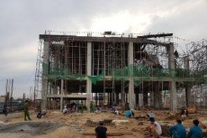 Sập công trình xây dựng, một người chết, bốn người bị thương
