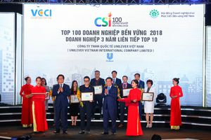 Unilever xếp hạng top doanh nghiệp bền vững xuất sắc nhất năm 2018