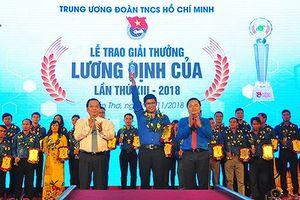 50 thanh niên tiêu biểu nhận giải thưởng Lương Định Của