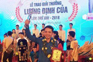 Nghệ An có 2 thanh niên xuất sắc được trao Giải thưởng Lương Định Của năm 2018