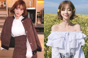 Mê mẩn với style ngọt ngào của cô nàng được mệnh danh là ''Angela Baby của Hàn Quốc''