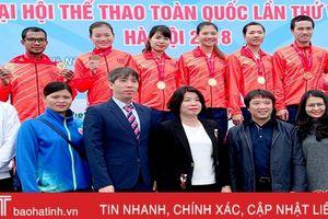 Đua thuyền Hà Tĩnh giành 4 huy chương tại Đại hội TDTT toàn quốc