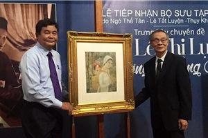 Tiếp nhận, trưng bày bộ sưu tập 'Lê Thị Lưu - Ấn tượng hoàng hôn'