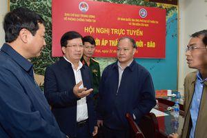 Phó Thủ tướng Trịnh Đình Dũng chỉ đạo ứng phó bão số 9