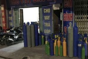 Quảng Ninh: Hàng trăm bình 'khí cười' N2O tại cửa hàng cầm đồ