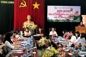 Chủ tịch Hội LHPNVN Nguyễn Thị Thu Hà dự hội nghị tổng kết công tác thi đua cụm Tây Nam bộ
