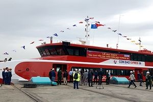 Hạ thủy tàu cao tốc hai thân lớn nhất được đóng tại Việt Nam