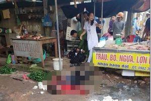 Kẻ dùng súng và dao sát hại người phụ nữ ở chợ đã tử vong