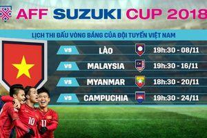 AFF Cup 2018 tối nay: Cuộc đấu nảy lửa giữa Việt Nam và Campuchia, Malaysia và Myanmar