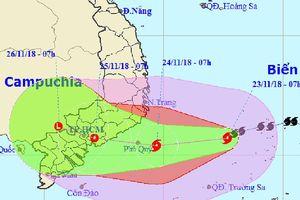 Chiều nay, bão số 9 vào biển Khánh Hòa đến Bà Rịa-Vũng Tàu