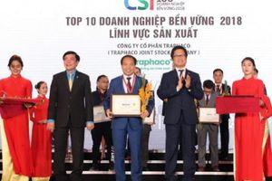 Sử dụng dược liệu sạch, Traphaco vào Top 10 DN bền vững năm 2018