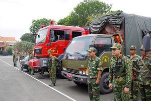 Lực lượng vũ trang thành phố Hồ Chí Minh chủ động ứng phó bão số 9