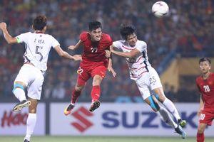 Highlights hiệp 1 Việt Nam 2 - 0 Campuchia: Tiến Linh, Quang Hải lập công
