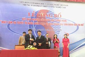Việt Nam chế tạo thành công máy sản xuất đá tuyết từ nước biển