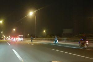Xử lý triệt để xe máy đi vào làn đường cao tốc