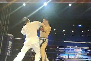 Trận đấu 5 giây võ sĩ kickboxing hạ cao thủ thái cực quyền
