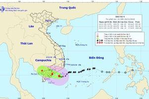 Dự báo thời tiết 25.11: Bão số 9 Usagi giật cấp 10 ngay trên bờ biển Nam Bình Thuận đến Bến Tre