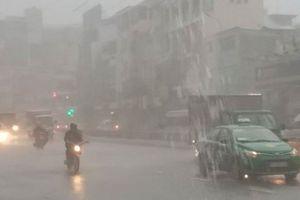 Ảnh hưởng bão số 9, khắp TP.HCM mưa 'trắng trời', gió giật cực mạnh