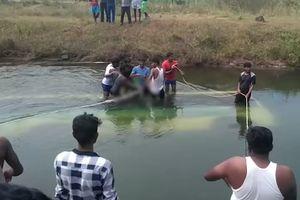 Xe buýt lao xuống kênh, 28 người chết đuối