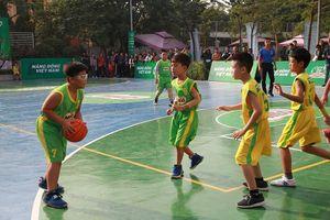 32 đội bóng rổ 'nhí' hay nhất Hà Nội tranh tài