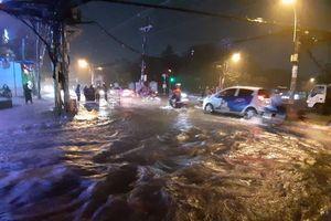 Bão số 9: Cây xanh bật gốc, hàng loạt tuyến đường TP Hồ Chí Minh chìm trong biển nước
