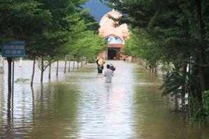 Bão số 9: Mưa lớn làm nhiều vùng ở tỉnh Ninh Thuận bị ngập cục bộ