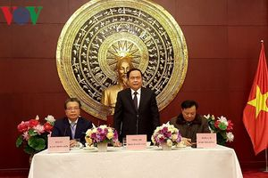 Chủ tịch UBTƯ MTTQ Việt Nam thăm ĐSQ Việt Nam tại Trung Quốc