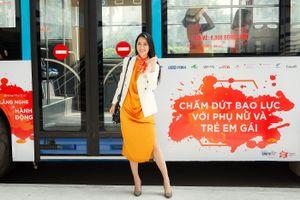 Hoa hậu Dương Thùy Linh nói về chuyện bạo lực gia đình