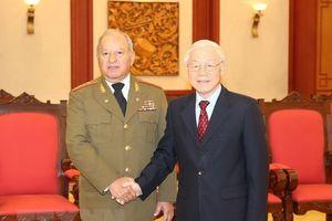 Tổng Bí thư, Chủ tịch Nước tiếp Bộ trưởng Các lực lượng vũ trang Cuba