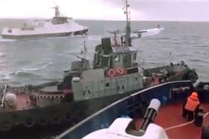 Xem cảnh truy đuổi, đâm va nguy hiểm giữa tàu hải quân Nga và Ukraine