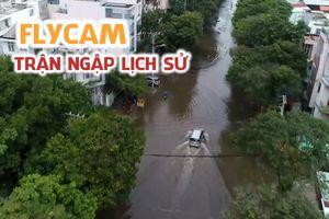 Sài Gòn từ trên cao trong trận ngập lịch sử vì bão số 9