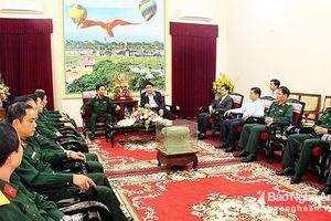 Tư lệnh Quân khu 4 thăm, làm việc với Thường trực Tỉnh ủy Nghệ An