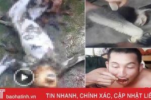 Danh tính 5 người có mặt trong clip giết khỉ, ăn óc sống gây phẫn nộ ở Hương Khê