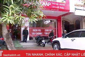 Xem Cảnh sát Hình sự Hà Tĩnh đột kích 5 tiệm cầm đồ cho vay nặng lãi