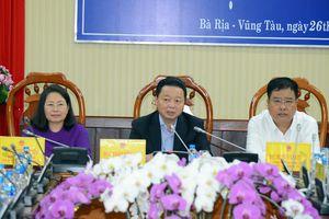 Bộ trưởng Trần Hồng Hà tháo gỡ một số khó khăn, vướng mắc về tài nguyên và môi trường tại Bà Rịa - Vũng Tàu