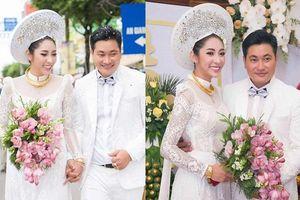 Đặng Thu Thảo đeo kiềng vàng to vật vã trong lễ rước dâu về nhà đại gia miền Tây