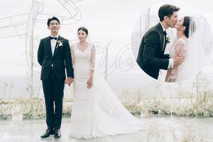 Giả Tịnh Văn 'khóa môi' ngọt ngào trong đám cưới với chồng trẻ