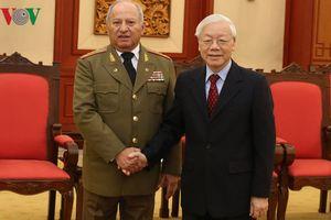 Tổng Bí thư, Chủ tịch nước tiếp Bộ trưởng Bộ các LLVT Cách mạng Cuba