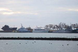 Su-25 quần thảo trên cầu Crưm sau khi Nga bắt tàu hải quân Ukraine
