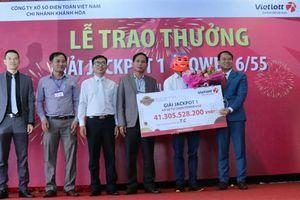 Vietlott trao giải Jackpot 1 trị giá 41,3 tỷ đồng cho khách hàng ở Đắk Lắk