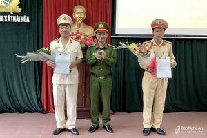 Công bố quyết định của Giám đốc Công an tỉnh về điều động, luân chuyển cán bộ ở Thái Hòa