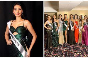Chẳng ngại mặc lại váy vừa cho Hoa hậu Philippines mượn, Minh Tú 'chặt đẹp' dàn thí sinh hoa hậu nhờ body chuẩn vệ nữ