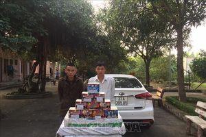Bắt quả tang vận chuyển 183 kg pháo nổ từ Lào vào Việt Nam