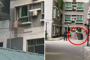 Chồng nhân tình về nhà đột xuất, người đàn ông mình trần đánh đu ngoài cửa sổ