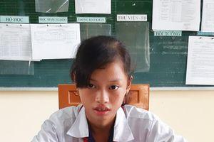 Hoàn cảnh đáng thương của cô học trò nghèo